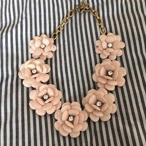 J. Crew Oversized Floral Light-Pink Necklace